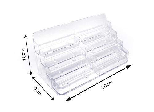 Tarjetero transparente 8 compartimentos