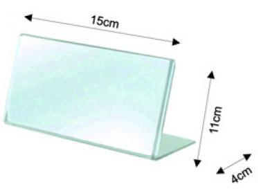 Portacartel inclinado A6 horizontal - Portacarteles